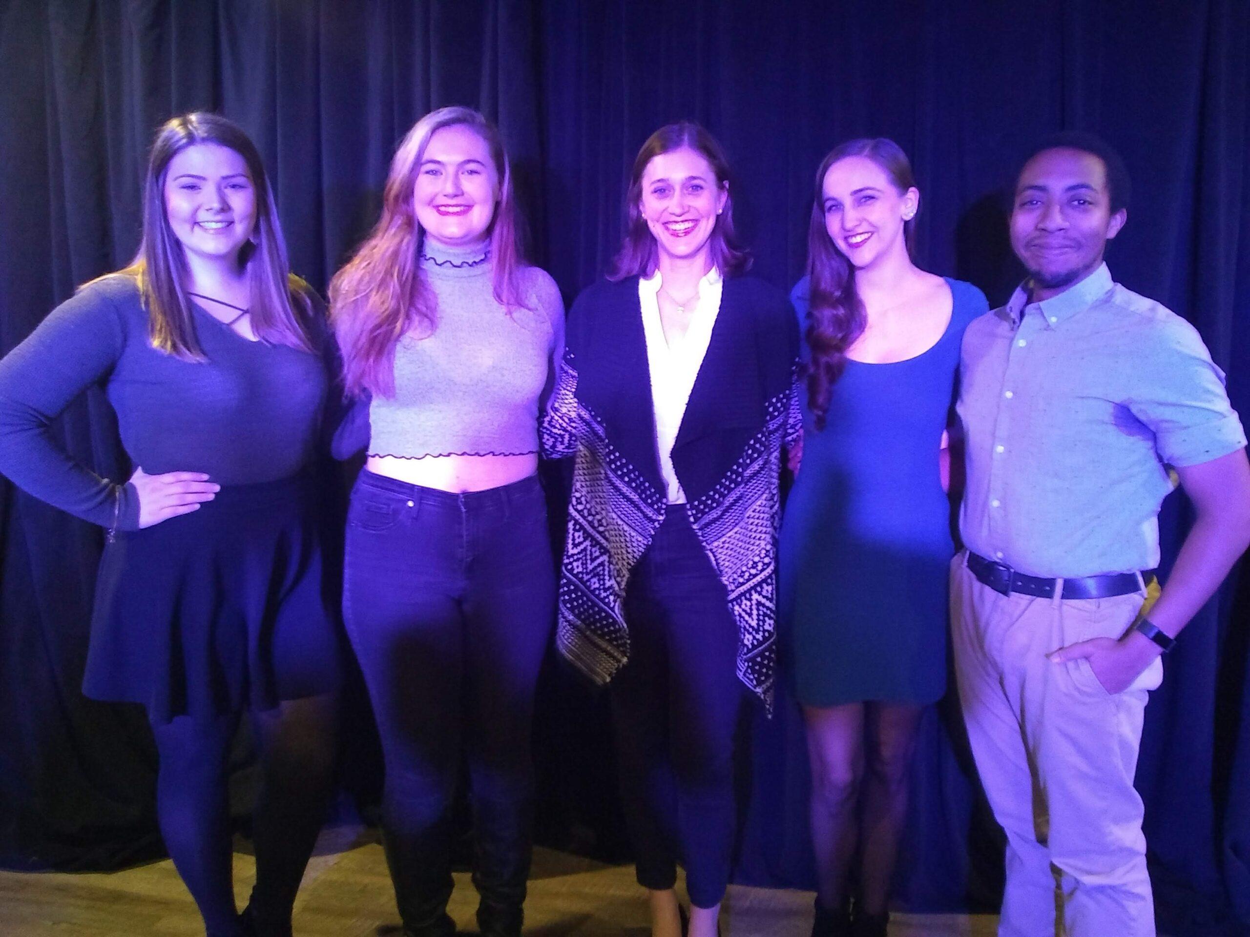 Kayleigh LaGrutta, Maggie Bambic, Julia Kershetsky, Rachel Dalton, Keith Livingston at Starling Voice Cabaret, 2018